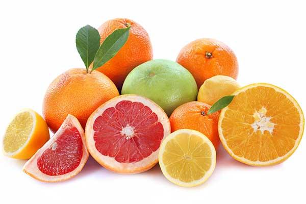 citrus fruits - oranges, grapefruit and lemons